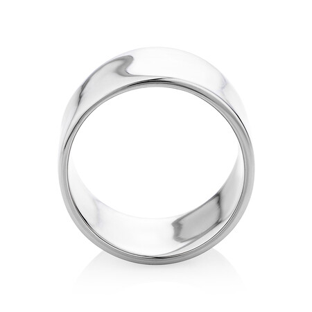 12mm Barrel Ring in Sterling Silver