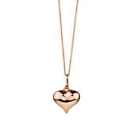 Heart Pendant in 10kt Rose Gold