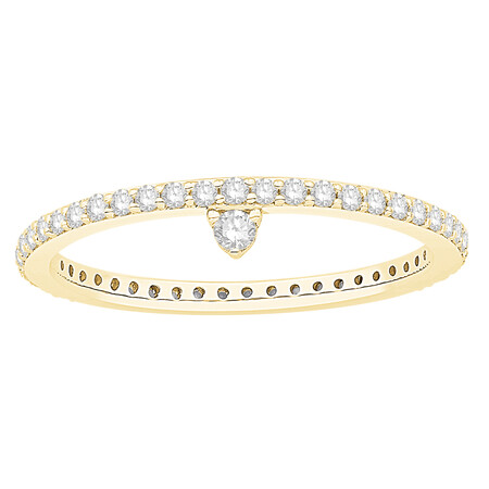 Stacker Ring with 0.43 Carat TW of Diamonds in 10kt Yellow Gold
