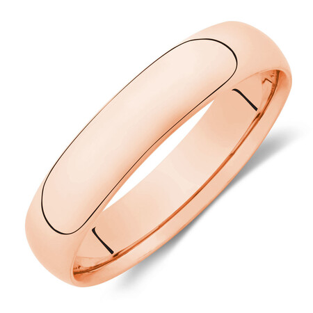 5mm Wedding Band in 10kt Rose Gold