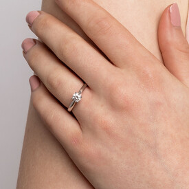 Evermore Solitaire Engagement Ring with1/2 Carat TWDiamond in 14kt White Gold