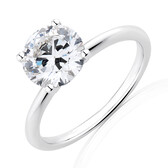 Lab Created 1.75 Carat Diamond Ring in 14kt White Gold