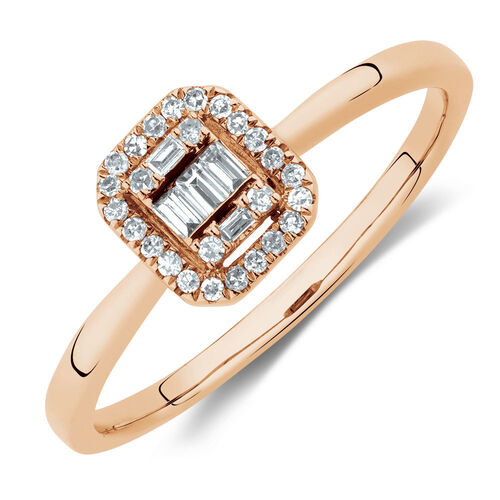 Promise Ring with 0.15 Carat TW of Diamonds in 10kt Rose Gold