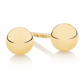 4mm Ball Stud Earrings in 10kt Yellow Gold