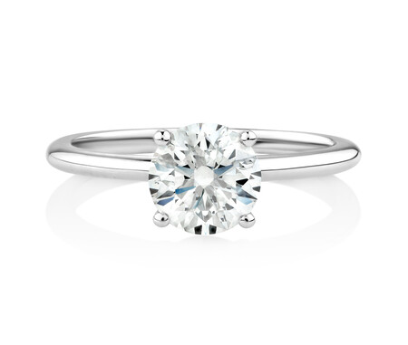 Laboratory-Created 1.25 Carat Diamond Ring in 14kt White Gold