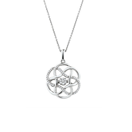 Everlight Pendant with 0.15 Carat TW of Diamonds in Sterling Silver