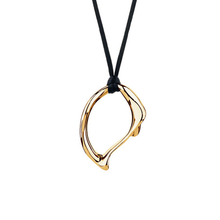 Large Spirits Bay Solid Pendant in 10kt Yellow Gold