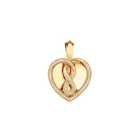 Infinitas Enhancer Pendant with 0.34 Carat TW of Diamonds in 10kt Yellow Gold