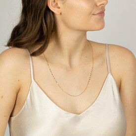 60cm Mirror Chain in 10kt Yellow Gold