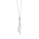 Cubic Zirconia & Sterling Silver Charm Lariat Necklace