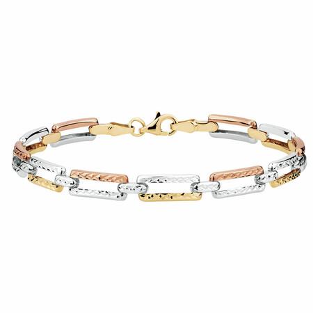 Bracelet in 10kt Yellow, White & Rose Gold