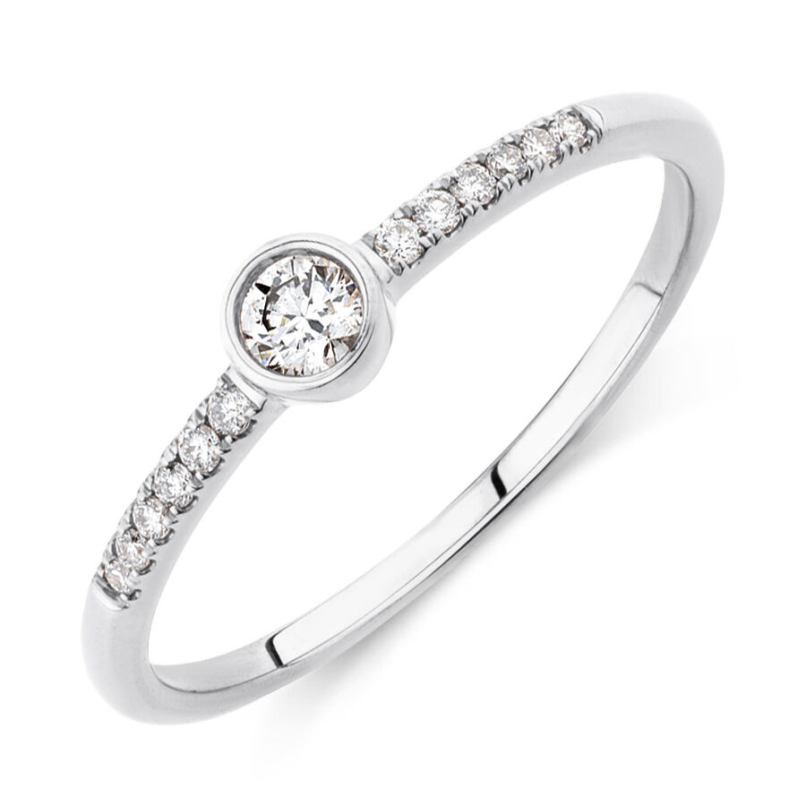 Promise Ring with 0.16 Carat TW of Diamonds in 10kt White Gold