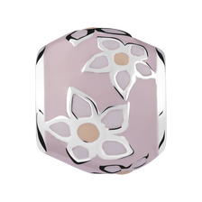 Baby Pink Enamel Flower Charm