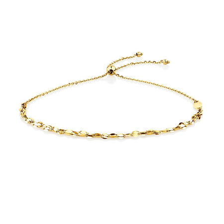 Triple Strand Adjustable Bolo Bracelet in 10kt Yellow Gold
