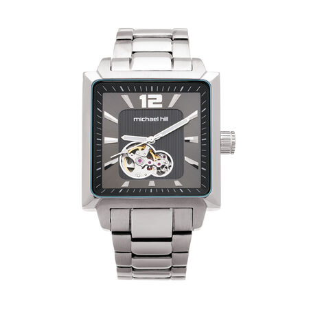 Men's Manual Winding Mechanical Watch in Stainless Steel
