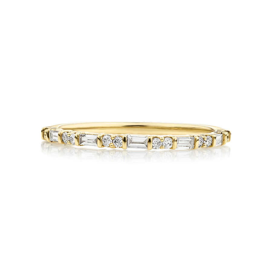 Evermore Wedding Band with 0.20 Carat TW of Diamonds in 10kt Yellow Gold