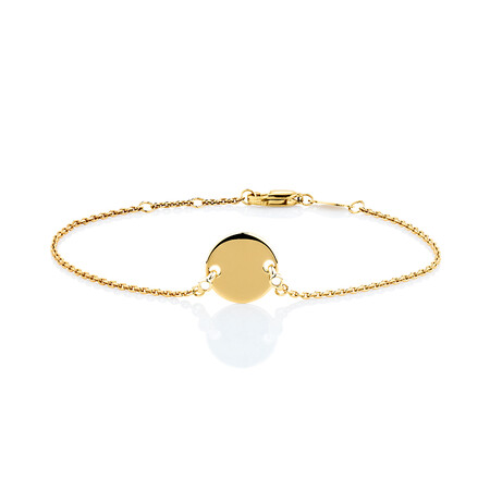 Compass Bracelet with Diamonds in 10kt Yellow Gold