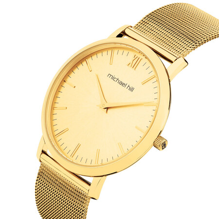 Ladies Slimline Watch in Gold Tone Stainless Steel