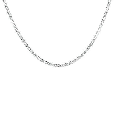 """45cm (18"""") Fancy Chain in Sterling Silver"""