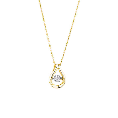Everlight Pendant with a 1/4 Carat TW Diamond in 10kt Yellow Gold