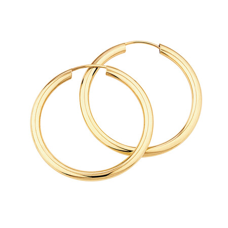 20mm Flexible Clasp Hoop Earrings in 10kt Yellow Gold