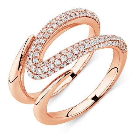 Mark Hill Ring with 0.72 Carat TW of Diamonds in 10kt Rose Gold