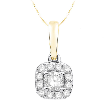 Pendant with 0.25 Carat TW of Diamonds in 10kt Yellow and White Gold