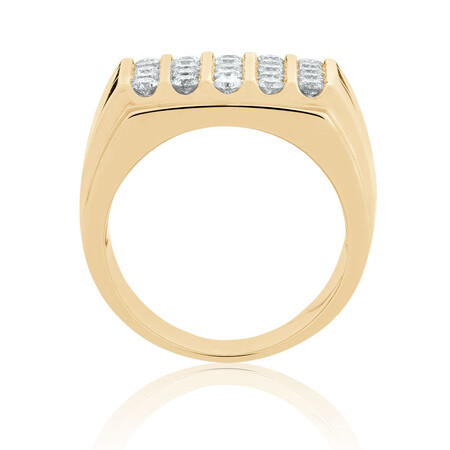 Men's Ring with 1.45 Carat TW of Diamonds in 10kt Yellow Gold