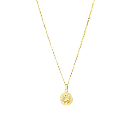 Scorpio Zodiac Pendant in 10kt Yellow Gold