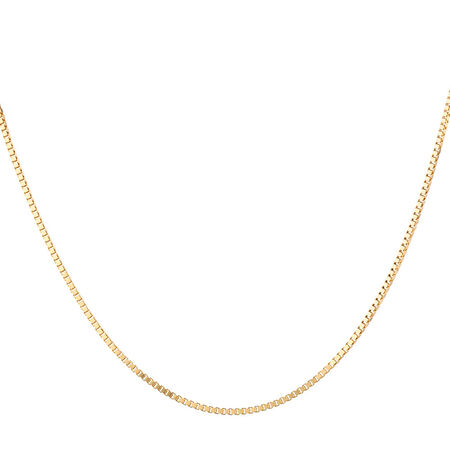 "55cm (22"") Box Chain in 10kt Yellow Gold"