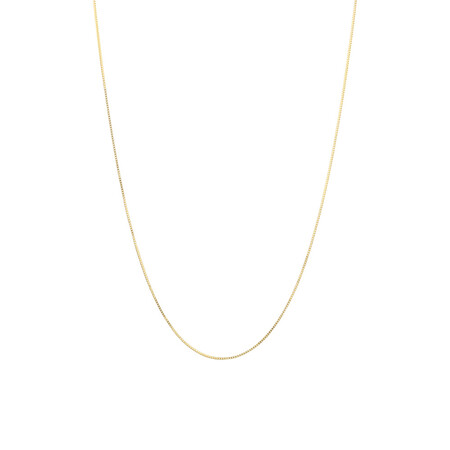 """40cm (16"""") Box Chain in 14kt Yellow Gold"""