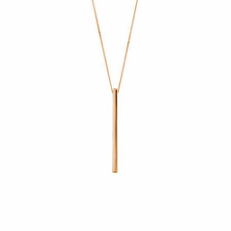 Vertical Bar Pendant in 10ct Rose Gold