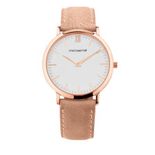 Ladies' Watch in Rose Tone Stainless Steel & Pink Leather