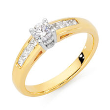 Online Exclusive - Solitaire Engagement Ring with a 1/2 Carat TW Diamond in 18kt Yellow & White Gold