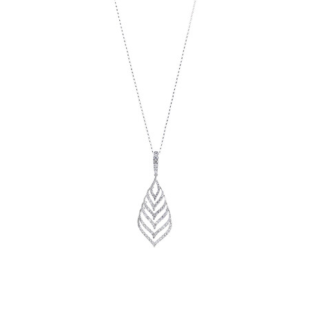 Teardrop Pendant with 1.25 Carat TW of Diamonds in 10kt White Gold