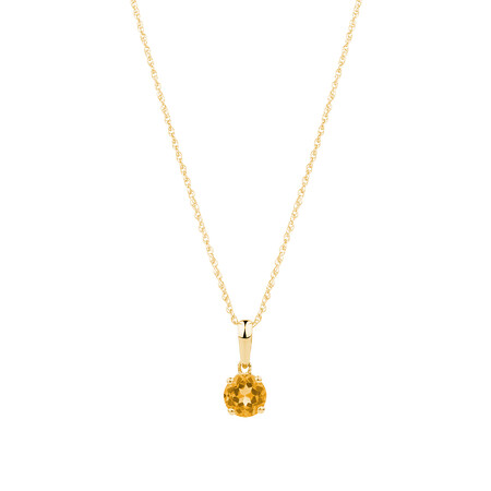 Pendant with Citrine in 10kt Yellow Gold