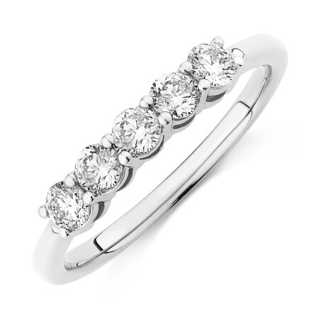 Evermore Wedding Band with 0.50 Carat TW of Diamonds in 14kt White Gold