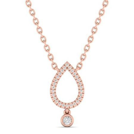 Necklace with Diamonds in 10kt Rose Gold