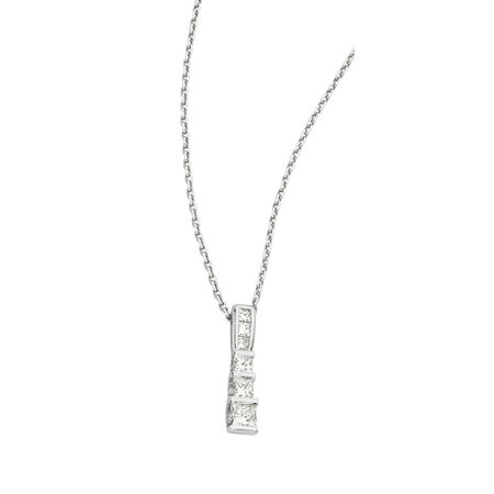 "45cm (18"") Solid Cable Chain in 18kt White Gold"