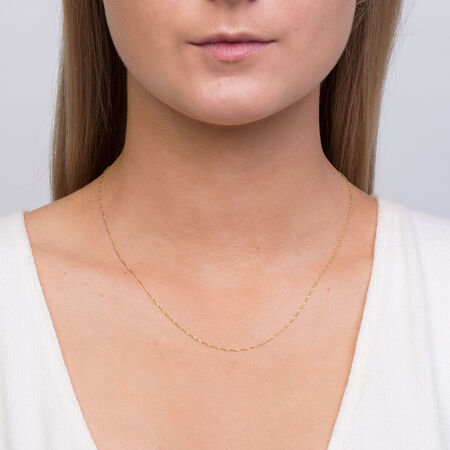 """45cm (18"""") Singapore Chain in 14kt Yellow Gold"""