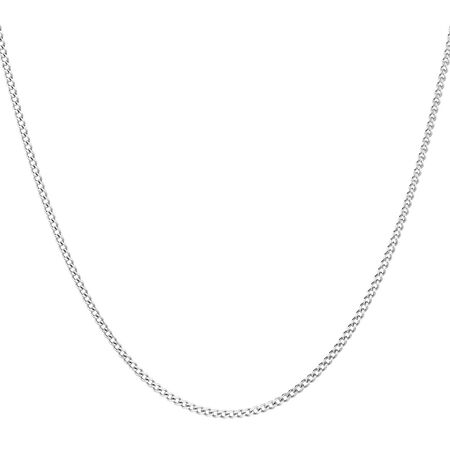 """40cm (16"""") Curb Chain in 10kt White Gold"""