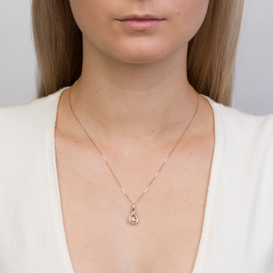 Everlight Pendant with Diamonds in 10kt Yellow Gold