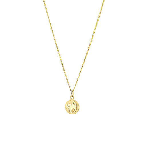 Taurus Zodiac Pendant in 10kt Yellow Gold