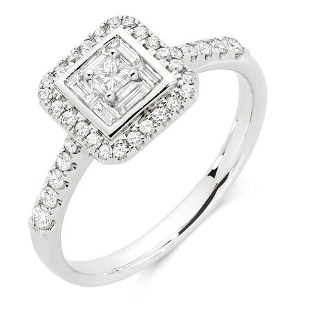 Engagement Ring with 1/2 Carat TW of Diamonds in 18kt White Gold