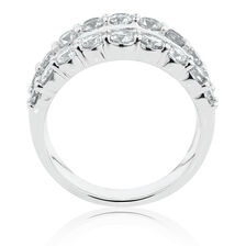 Ring with 3 Carat TW of Diamonds in 14kt White Gold