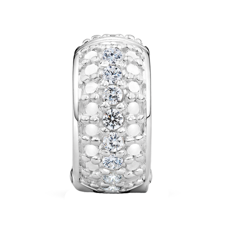 Cubic Zirconia & Sterling Silver Stopper