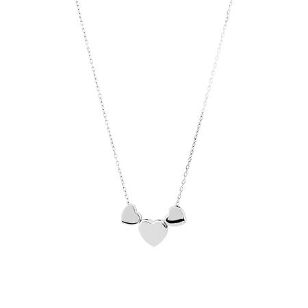 Plain Heart Pendant in Sterling Silver