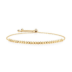 Adjustable Beaded Bracelet in 10kt Yellow Gold