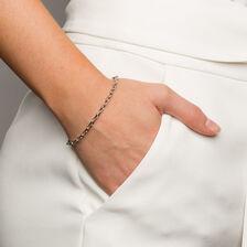 "19cm (7.5"") Rolo Bracelet in 10kt White Gold"