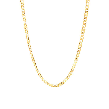"""45cm (18"""") Fancy Hollow Chain in 10kt Yellow Gold"""